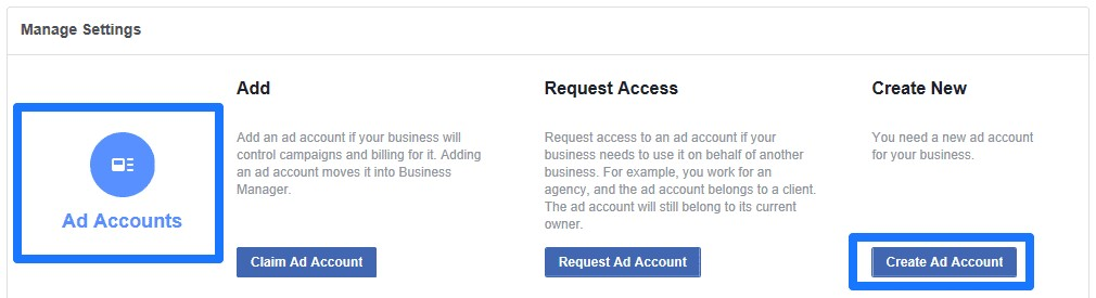 create ad account facebook business manager